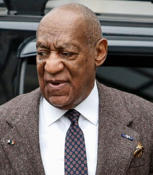 Bill Cosby arriving at a court hearing in 2016