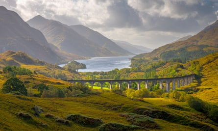 the Glenfinnan Viaduct, on the way to Fort William.