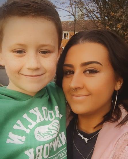 Amie Jordan, 28, and her son, Jasper.