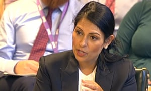 International development secretary Priti Patel gives evidence to the Commons international development committee.