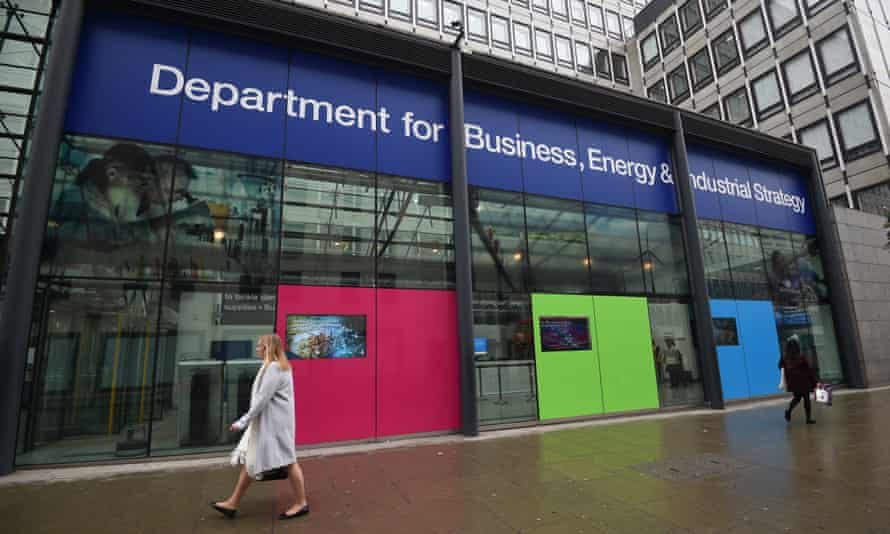 A view of the Department for Business, Energy & Industrial Strategy in Westminster, London.