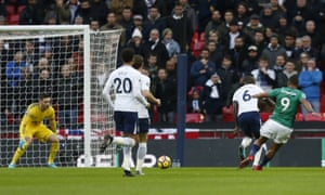 Salomon Rondon scores West Brom's opener against Tottenham