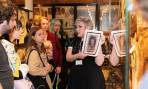 'Incredibly problematic' … Mara Gold leads an Alternative Pride Talks tour of the Pitt Rivers Museum in Oxford. The V&A also offers an LGBTQ tour.