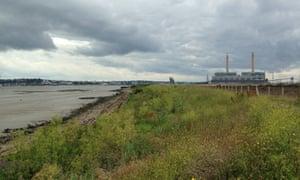 Tilbury Power Station and Clinker Beach