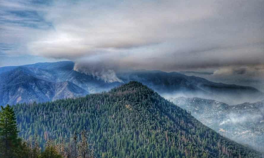 Smoke from the Ferguson fire. A section of the park will be closed until air quality improves.