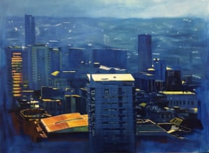 Vantage Points (3 x 4 ft oil painting on canvas) by Victoria Williams, 20, who studies at the University of Leeds.