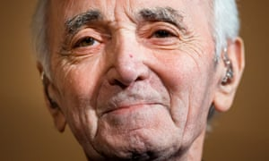 Charles Aznavour on stage in Geneva in March