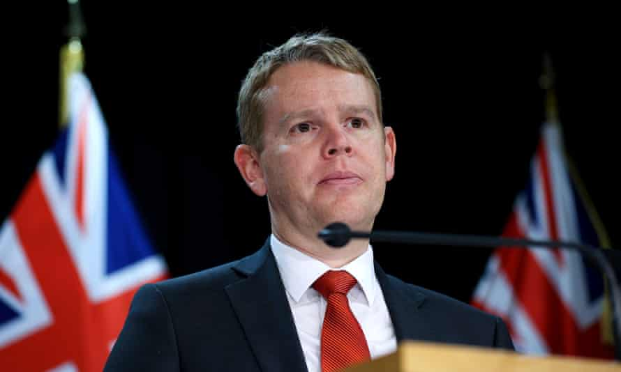 Minister for COVID-19 Response Chris Hipkins looks on during a post cabinet press conference at Parliament on June 28, 2021 in Wellington, New Zealand. The Wellington region is in alert level 2 until 11.59pm on Tuesday while the rest of the country is at level 1 following the emergence of new COVID-19 cases in New Zealand linked to a cluster outbreak in Sydney, Australia. (Photo by Hagen Hopkins/Getty Images)