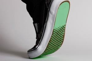 Kirigami needle patches could be added to existing shoes or incorporated in the design.