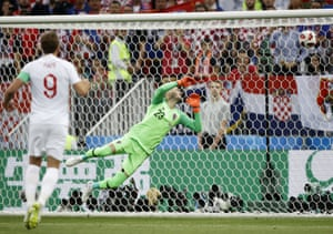 The ball flies past Croatia goalkeeper Danijel Subasic and into the top corner.