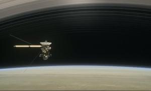 The Cassini spacecraft mission around Saturn.