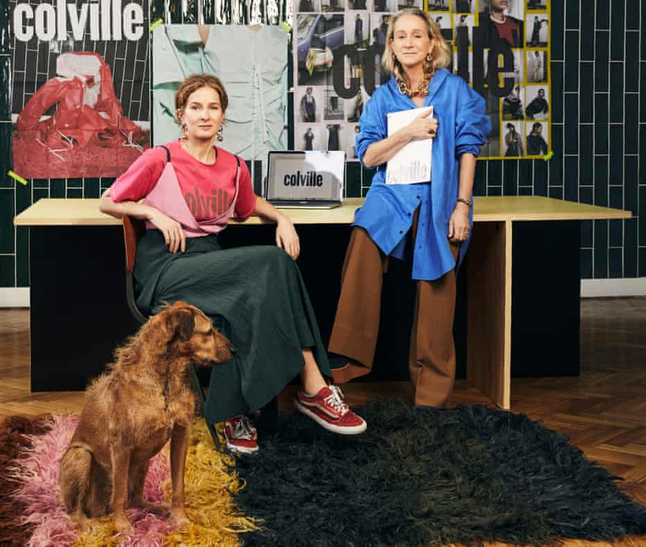 'We are never going to go back to the old world': Molly Molloy and Lucinda Chambers, co-founders of the luxury fashion brand Colville.