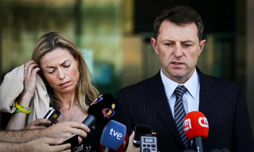 Kate and Gerry McCann speak to press in Lisbon in 2014