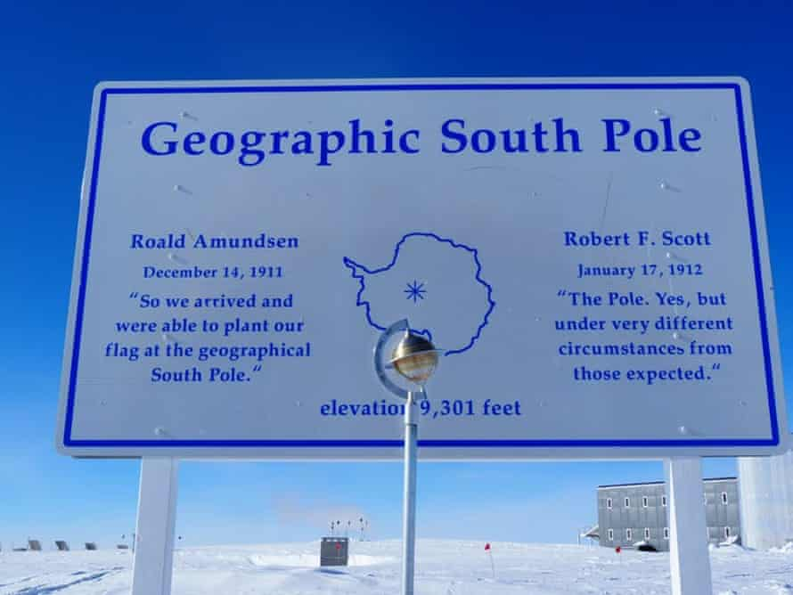 The Amundsen-Scott South Pole station is the Earth's southern-most weather observatory.