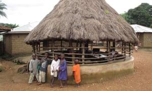 Children in the village of Bumbuna, in northern Sierra Leone