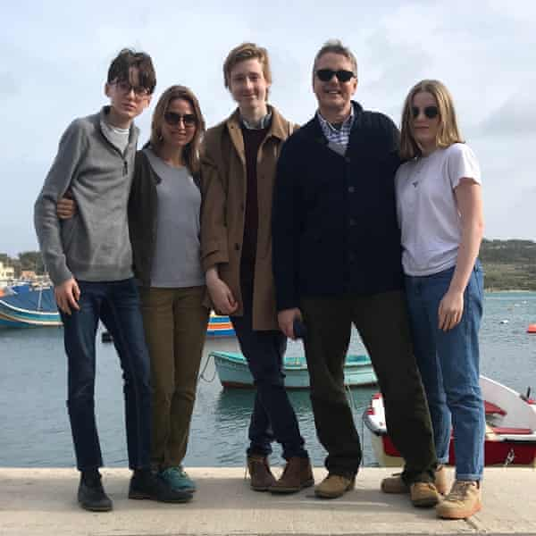 Suzanne and Jeremy Heywood on holiday with their children.