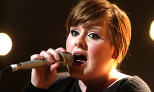 Adele performs on stage at the Brits nominations launch party at the Roundhouse, London on January 14, 2008
