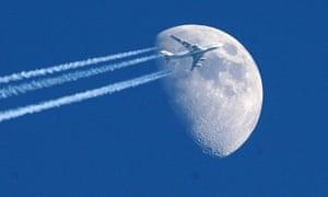 A jumbo jet in flight