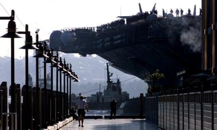 US Navy ship in Sydney