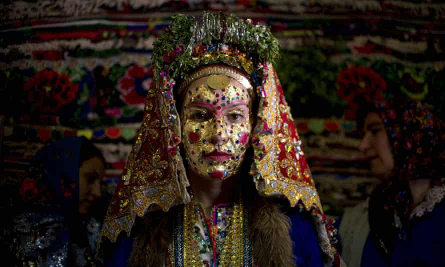 A Bulgarian Pomak bride: one of the groups treated with suspicion in the communist era