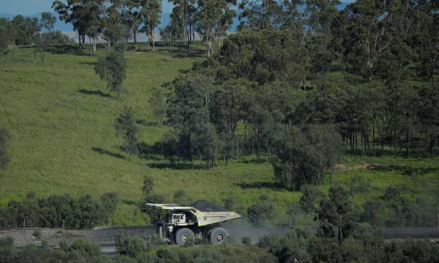 A coal truck in the Hunter Valley