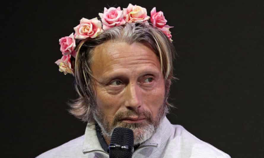 Mads Mikkelsen speaks during Comic Con Russia 2019.