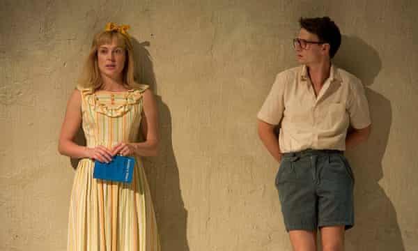 Matilda Ridgway and Tom Conroy, in Belvoir St theatre's 2016 production of Jasper Jones