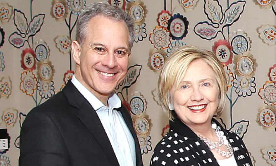 Eric Schneiderman and Hillary Clinton in New York in 2017.