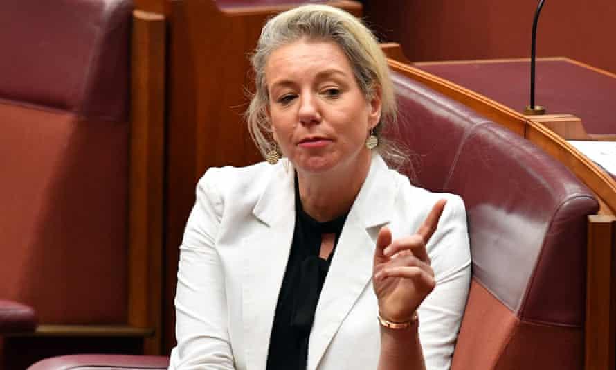 Former sport minister Bridget McKenzie in parliament