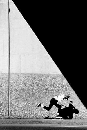 Tod Swank, Push, 1987, by J Grant Brittain. J Grant Brittain has been documenting the Californian skateboarding world since a brief stint working at the Del Mar Skate Ranch skatepark in 1979. His evocative black and white shots stand out for their dreamy, atmospheric qualities