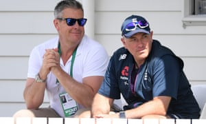 Director of cricket Ashley Giles and new coach Chris Silverwood are relaxed before the New Zealand series.