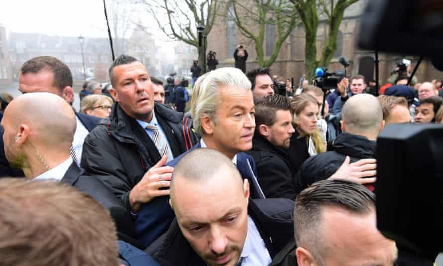 Geert Wilders in Spijkenisse.