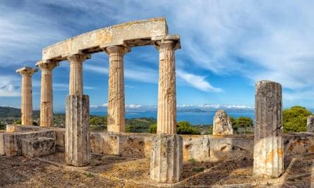 Temple of Aphaia, Aegina island. Saronic gulf. Greece