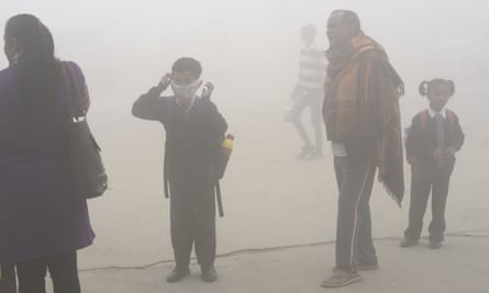 Pollution levels in Delhi, India, reached 'hazardous' levels last week and doctors declared a public health emergency.