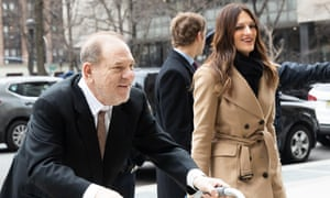 Harvey Weinstein with his lawyer, Donna Rotunno, at the New York court hearing on 14 January.
