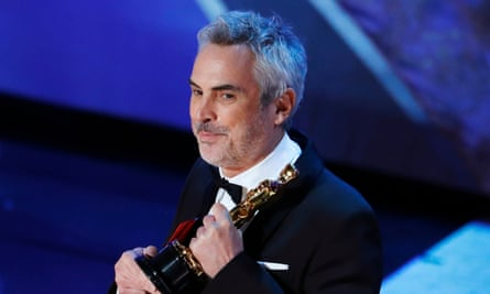 Best director winner Alfonso Cuaron at the 91st Academy Awards.