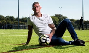 Paul Konchesky at the new facilities at the Hackney Marshes.