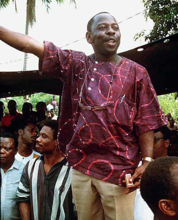 Nigerian author and activist Ken Saro-Wiwa
