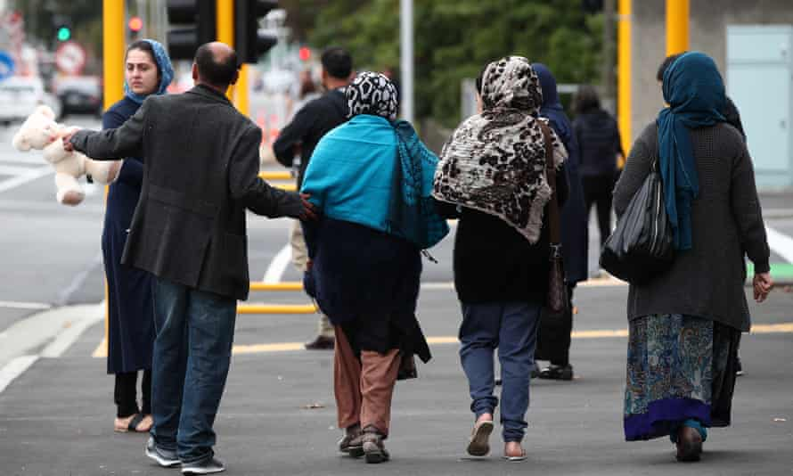 Members of the Muslim community head to the Christchurch Hospital