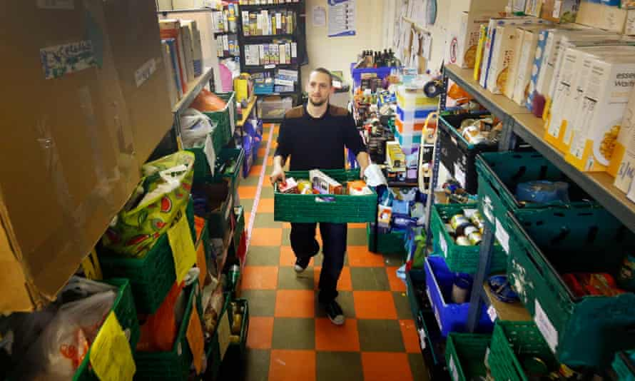 A Trussell Trust food bank in Glasgow.