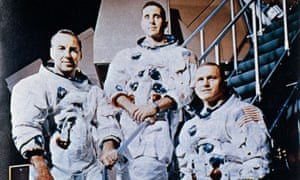 The Apollo 8 crew (from left) Frank Borman, James Lovell and Bill Anders.