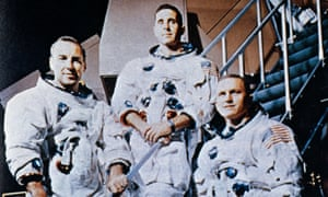 Apollo 8 crew James Lovell, William Anders and Frank Borman.