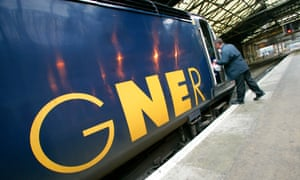 GNER train in a station