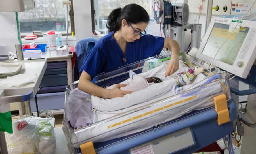 A medic in a paediatric department