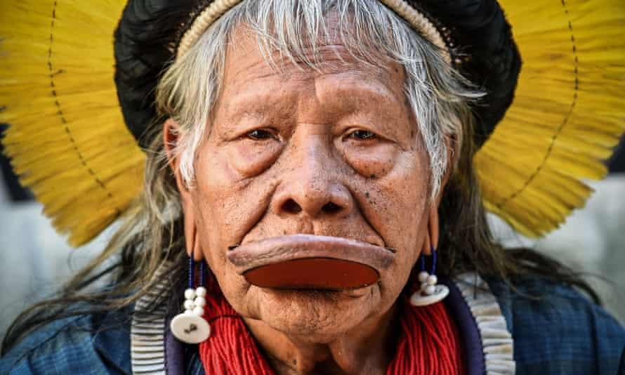 Raoni Metuktire, leader of the Kayapo people