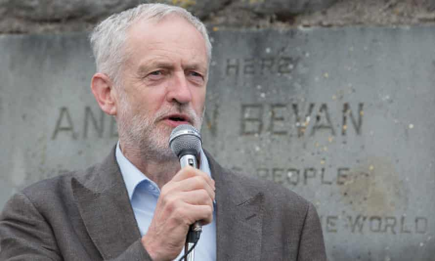 Jeremy Corbyn visits the Nye Bevan stones at Tredegar, Blaenau Gwent, in 2015.