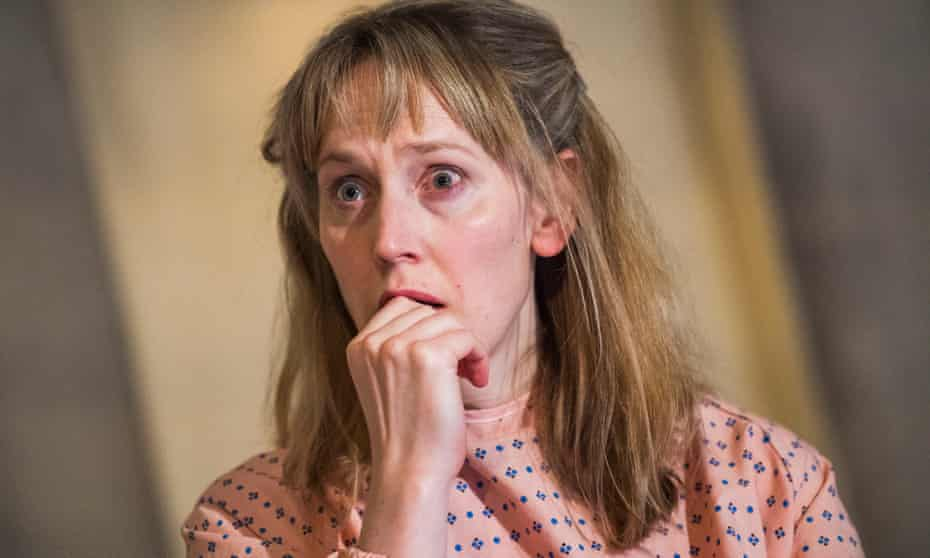 Hattie Morahan as Carol in Anatomy of a Suicide, by Alice Birch, at Royal Court, London.