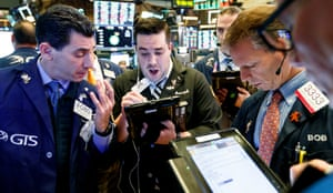 Traders were busy at the New York Stock Exchange as the Dow jumped by 300 points