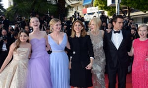 Addison Riecke, Elle Fanning, Kirsten Dunst, director Sofia Coppola, Nicole Kidman, Colin Farrell and  Angourie Rice at last week's Cannes premiere of Coppola's The Beguiled.