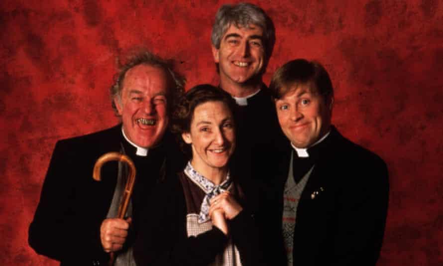 Father Ted's Frank Kelly, Pauline McLynn, Dermot Morgan and Ardal O'Hanlon.